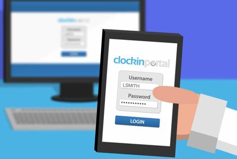 Clockin Portal App Pic