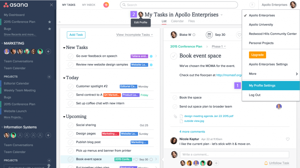 Asana apps to save time