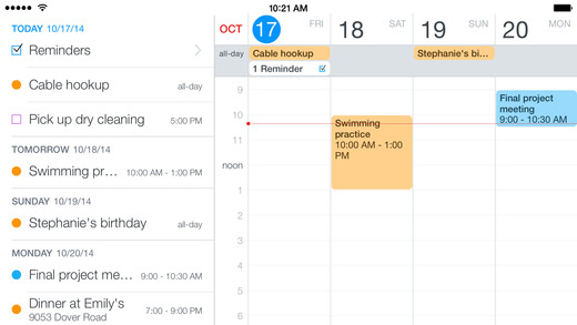 Fantastical 2- Time Management Apps Save Time