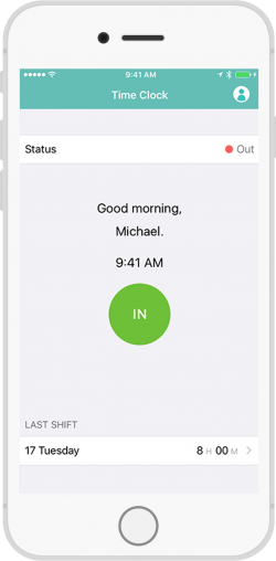 mobile time tracking clock in clock out app clockin portal